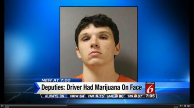Police: Fleeing man called 911, had pot on face