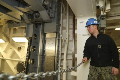 Second weapons elevator completed on USS Gerald R. Ford
