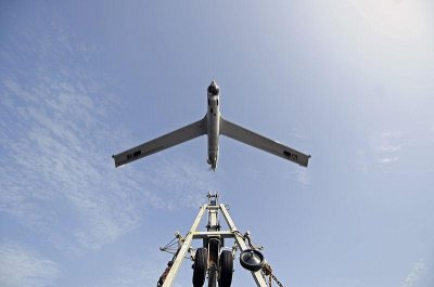 Royal Navy flies ScanEagle from ship
