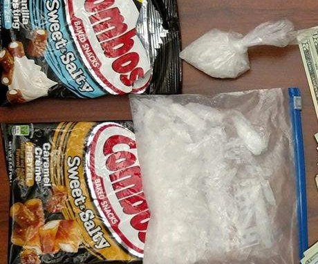 Ohio police find quarter pound of meth in Combos snack wrappers