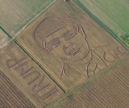Italian 'land artist' etches Donald Trump's face across 6 acres of corn