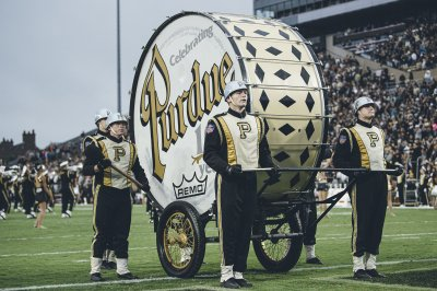 Purdue band lacks World's Largest Drum for football game vs. Notre Dame