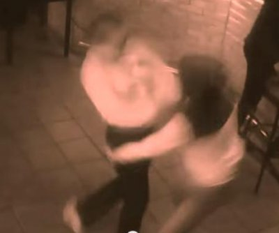 Russian waitress serves beat-down to handsy customer