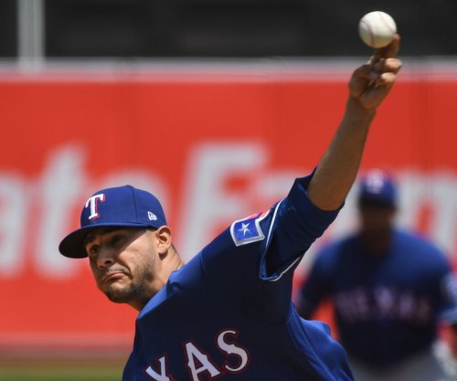 Rangers' Perez makes 2018 debut against A's