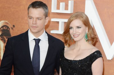 Matt Damon, Jessica Chastain attend 'The Martian' premiere