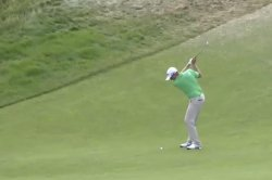 U.S. Open: Dean Burmester holes out eagle from 104 yards
