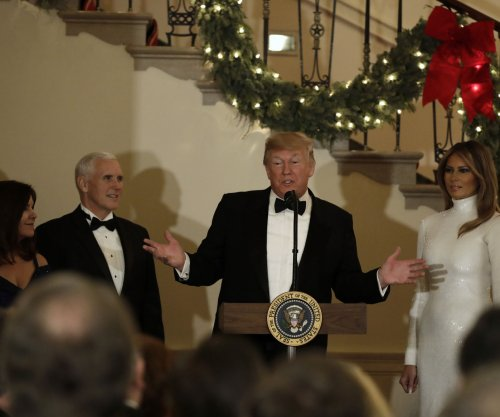 Trump describes White House as a 'happy place' during party
