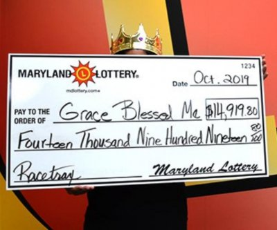 Maryland woman scores her third major win from lottery's Racetrax game