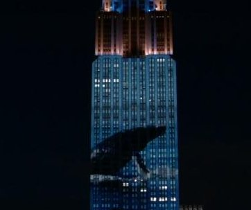 Endangered species projected onto Empire State Building