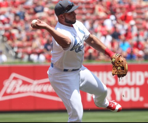 St. Louis Cardinals' Jhonny Peralta comes out of game with ailing thumb