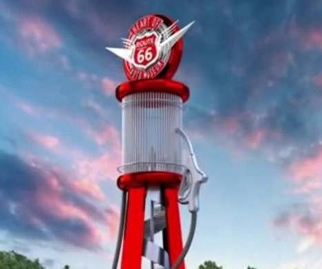 Museum nearing completion of world's largest gas pump