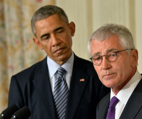 Defense Secretary Hagel steps down, pending replacement