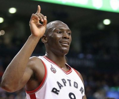 Toronto Raptors' Bismack Biyombo lied about permission for finger wag