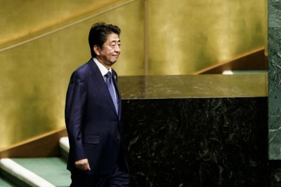 Japan's Shinzo Abe defends free trade before U.N. General Assembly
