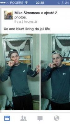 Jail inmate posts picture holding cognac, blunt