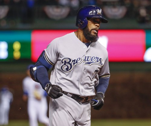 Milwaukee Brewers' Eric Thames feasting on Cincinnati Reds pitching