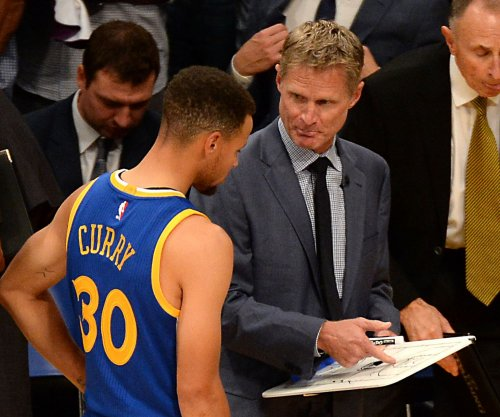 Golden State Warriors head coach Steve Kerr attends first home practice since taking leave