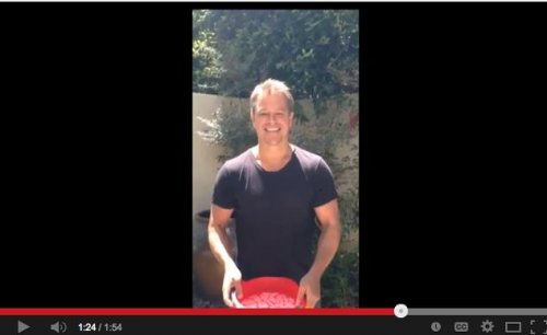 Matt Damon uses toilet water to perform Ice Bucket Challenge