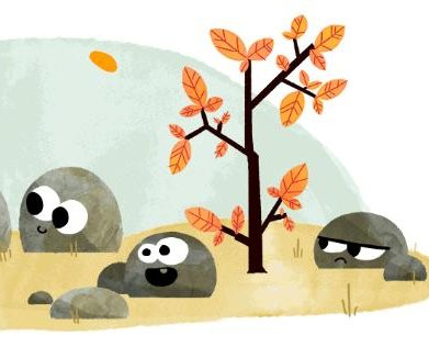 Google welcomes the arrival of fall -- and spring -- with new Doodles
