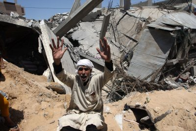 Israeli airstrikes kill 42 in Gaza City, including 2 young children