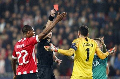 Champions League: Tottenham GK Hugo Lloris gets red card vs. PSV
