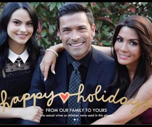 Mark Consuelos appears in holiday card with 'Riverdale' family