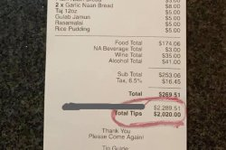 Server at Florida restaurant gets $2,020 tip
