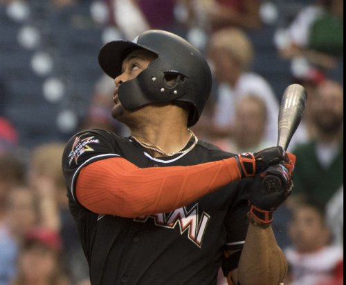 Giancarlo Stanton hits 50th homer in Miami Marlins' 6-2 win over San Diego Padres