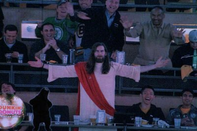 Jesus named 'Fan of the Game' at Bruins/Red Wings game on Easter