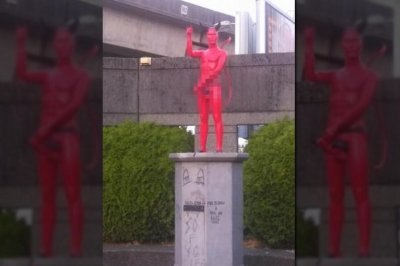 Vancouver removes devil statue with erect penis
