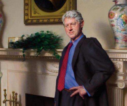 Artist: Bill Clinton portrait has secret Lewinsky reference