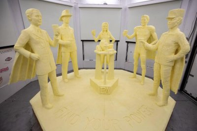 Life-sized butter sculpture promotes Pennsylvania's dairy industry