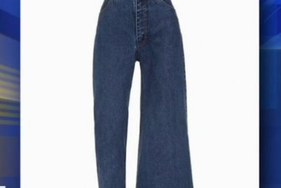 Watch:-Jeans-feature-one-fitted-leg,-one-flared-leg