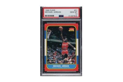 Michael Jordan rookie card sells for record $150K