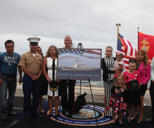 U.S. Navy to christen guided-missile destroyer USS Rafael Peralta