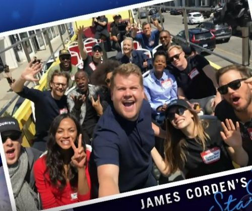 'Avengers' cast tour Los Angeles with James Corden on 'Late Late Show'
