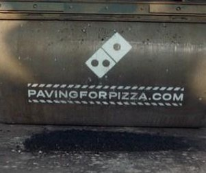 Domino's filling potholes to avoid damage to pizza