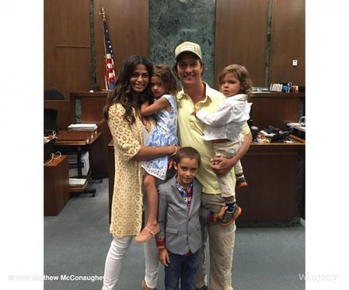 Matthew McConaughey's wife Camila becomes U.S. citizen
