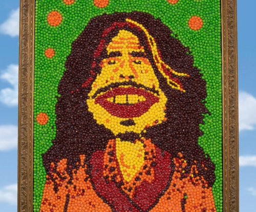 Portrait of Aerosmith's Steven Tyler, made of Skittles, from Super Bowl ad up for auction