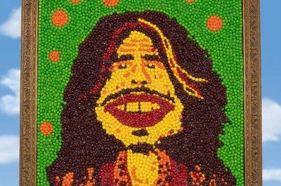 Portrait of Aerosmith's Steven Tyler, made of Skittles, from Super Bowl ad up for auction