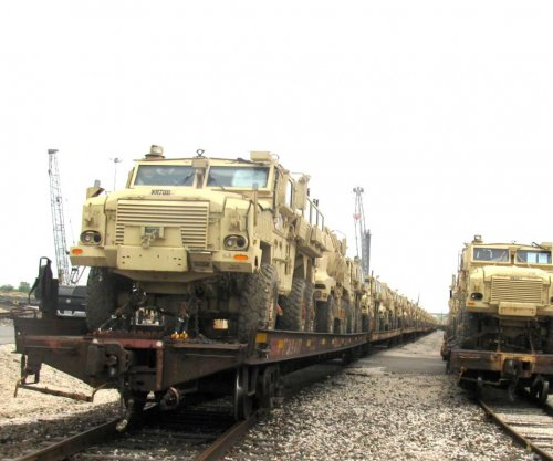 U.S. MRAPs arrive in Egypt