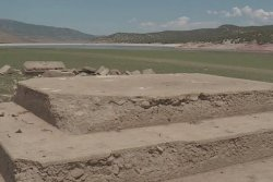 Ghost town remnants emerge from drought-stricken Utah reservoir