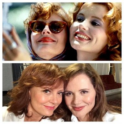 Susan Sarandon, Geena Davis pose in modern-day 'Thelma and Louise' selfie