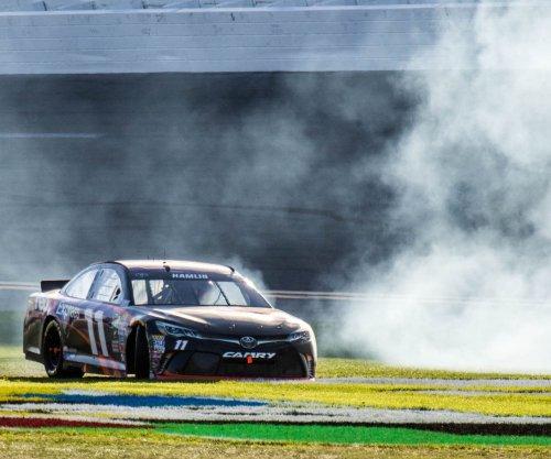 Whirlwind frezny for Daytona 500 champ Denny Hamlin