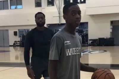 Dwyane Wade's son is already doing windmill dunks like dad