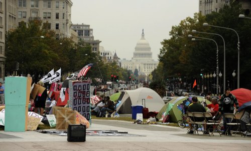 White-collar workers join Occupy protests