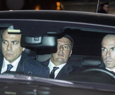 Italian president rejects PM Matteo Renzi's formal resignation