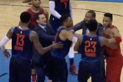 Russell Westbrook involved in Thunder, Blazers melee
