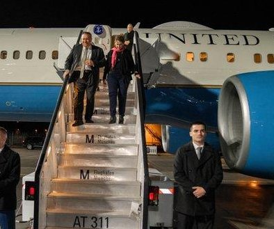 Pompeo sets off for 1st Africa trip, visits security summit in Germany
