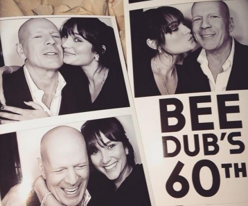 Bruce Willis celebrates 60th birthday with wife Emma Heming